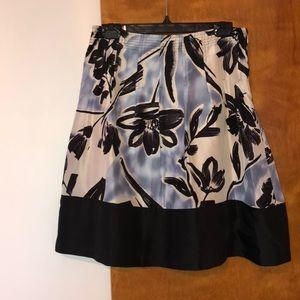 BCBG Silk Floral Skirt